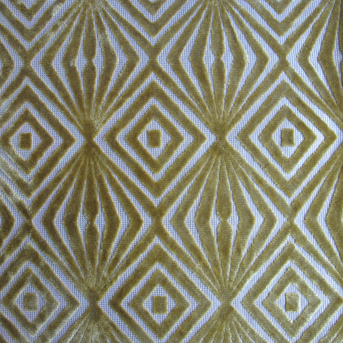 Jacquard Woven Cut Velvet Upholstery - KP13268 Green
